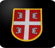 serbian red and white 4 c's patch