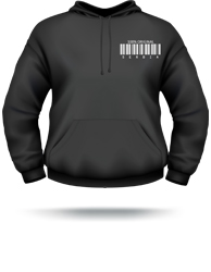 made in serbia barcode mens hoodie
