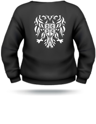 mens serbian eagle sweater