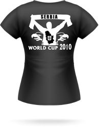 womens world cup serbia shirts 2010 south africa | world cup soccer t-shirt serbia
